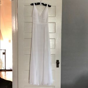 Laundry by Shelli Segal White Backless Maxi Dress